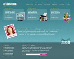 Art is Passion Website Redesign